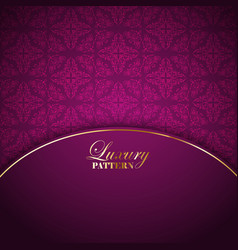 Luxurious pattern background vector