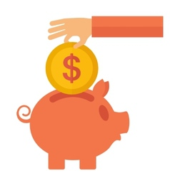 Money savings vector image