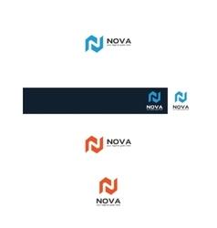 n map logo vector image vector image