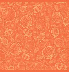 Orange pumpkins texture seamless repeat vector