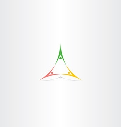 People triangle partner logo sign element vector