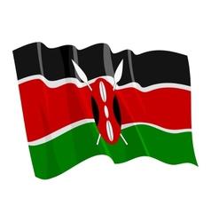 Political waving flag of kenya vector