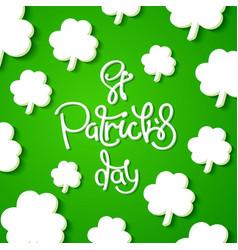 Saint patricks day background vector
