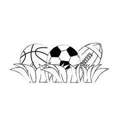 set of sport games vector image