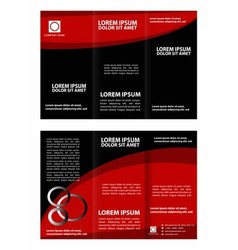 Tri fold business brochure template vector image