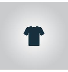 Tshirt Icon Flat design vector image vector image