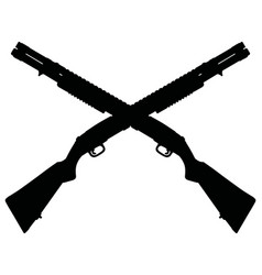two pump shotguns vector image