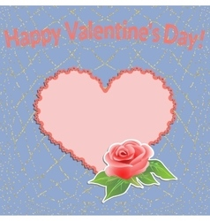 Valentines day background with filigree heart and vector
