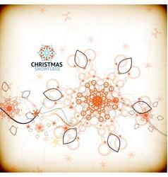 vintage christmas snowflake card vector image vector image