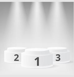 white winners podium vector image