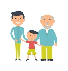 Three ages of men from child to senior vector