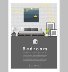 Interior design modern bedroom banner 1 vector