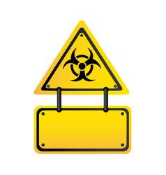 Metal biohazard warning notice sign icon vector