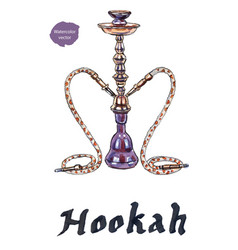 eastern colorful and modern hookah vector image