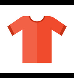 Red t-shirt icon in flat design vector