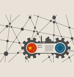 Economic relations between china and europe vector