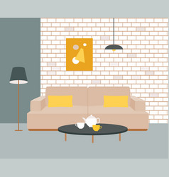 The interior of the room vector