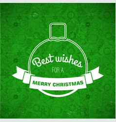 Merry christmas greeting template vector