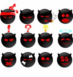 devil's smiles set two vector image