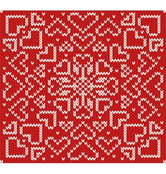 Knitted northern seamless pattern vector