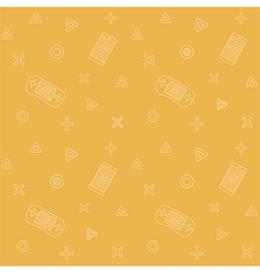 Mobile phones yellow controllers pattern vector