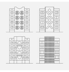 Panel houses linear3 vector
