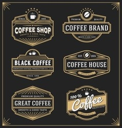 Set of vintage frame design for labels vector