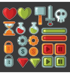 Game design objects vector