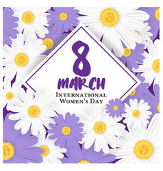 8 march international womens day background vector