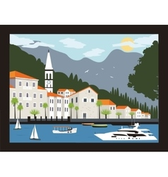 City in montenegro vector