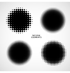 Set of isolated halftone backgrounds vector