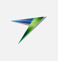 abstract arrow logo design vector image vector image