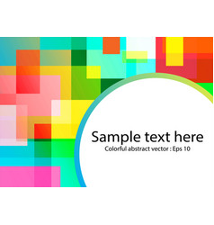 Abstract colorful square overlap vector