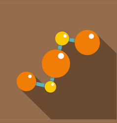 abstract orange and yellow molecules icon vector image vector image