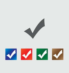 Accept icons vector image