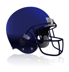 American Football Helmet Isolated vector image vector image