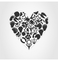 animal heart vector image