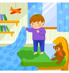 bed wetting vector image vector image