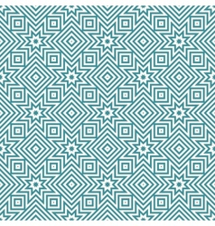 blue and white geometric seamless patterns vector image