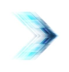 Blue arrow tech background vector image