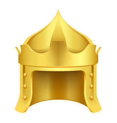 cartoon gold king crown isolated vector image