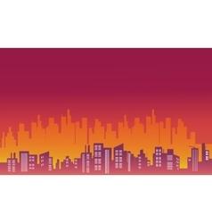 City landscape silhouettes vector