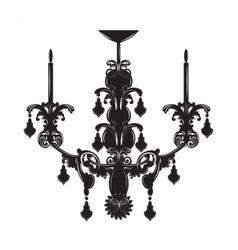 Classic baroque chandelier vector image vector image