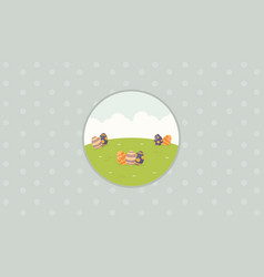 collection of easter background flat vector image