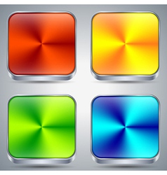 Colorful metallic buttons vector