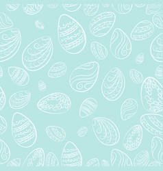 easter eggs blue pattern vector image