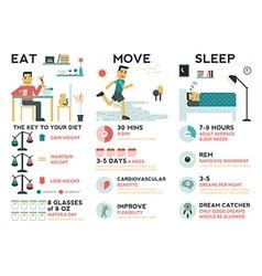 Eat move sleep vector
