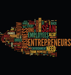 Entrepreneur scan text background word cloud vector