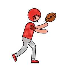 Ethlete practicing american football avatar vector