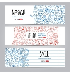 faces design template vector image vector image